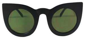 Vera Lyndon Veronica retro vintage cat eye sunglasses matte black