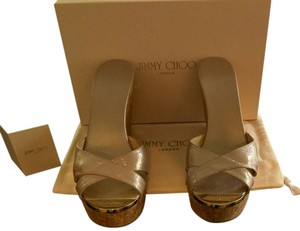Jimmy Choo Rare Color Barely Worn Frappe Wedges