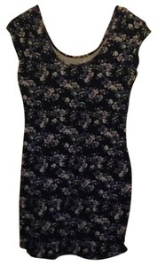 Divided by H&M short dress Blue floral pattern on Tradesy