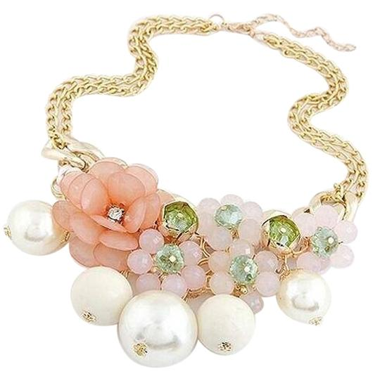 Other Flower & Pearl Necklace