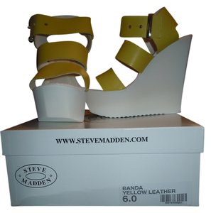 Steve Madden Yellow Wedges