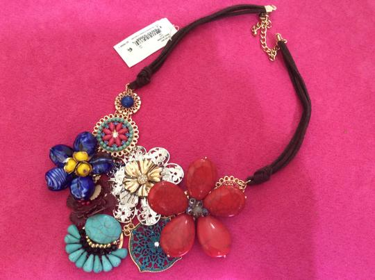 M Haskell Brand New With Tags M Haskell Multi-Colored Flowered Necklace