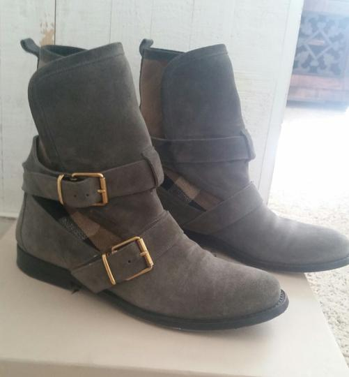 Burberry Leather Grey Boots Image 1