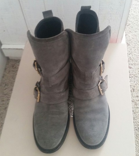 Burberry Leather Grey Boots Image 2