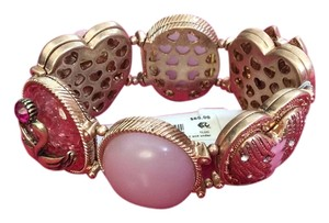 Betsey Johnson Betsey Johnson Brand New Goldtone Heart/Love Bracelet Stretch