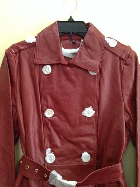 Other Rich Red Leather Jacket