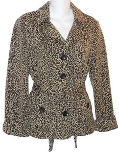 GERARD DAREL Leopard Belted Multi Jacket
