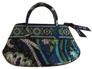 Vera Bradley Tote in Green, Dark Blue, Light Blue, White