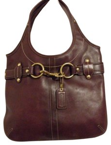 Coach Tote in plum purple