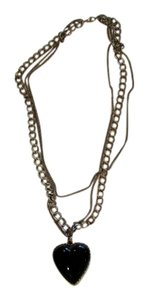 Urban Outfitters Urban Outfitters Double Chain Heart Necklace