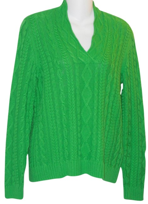 Preload https://item3.tradesy.com/images/chaps-green-cableknit-cotton-sweaterpullover-size-petite-10-m-5843002-0-0.jpg?width=400&height=650
