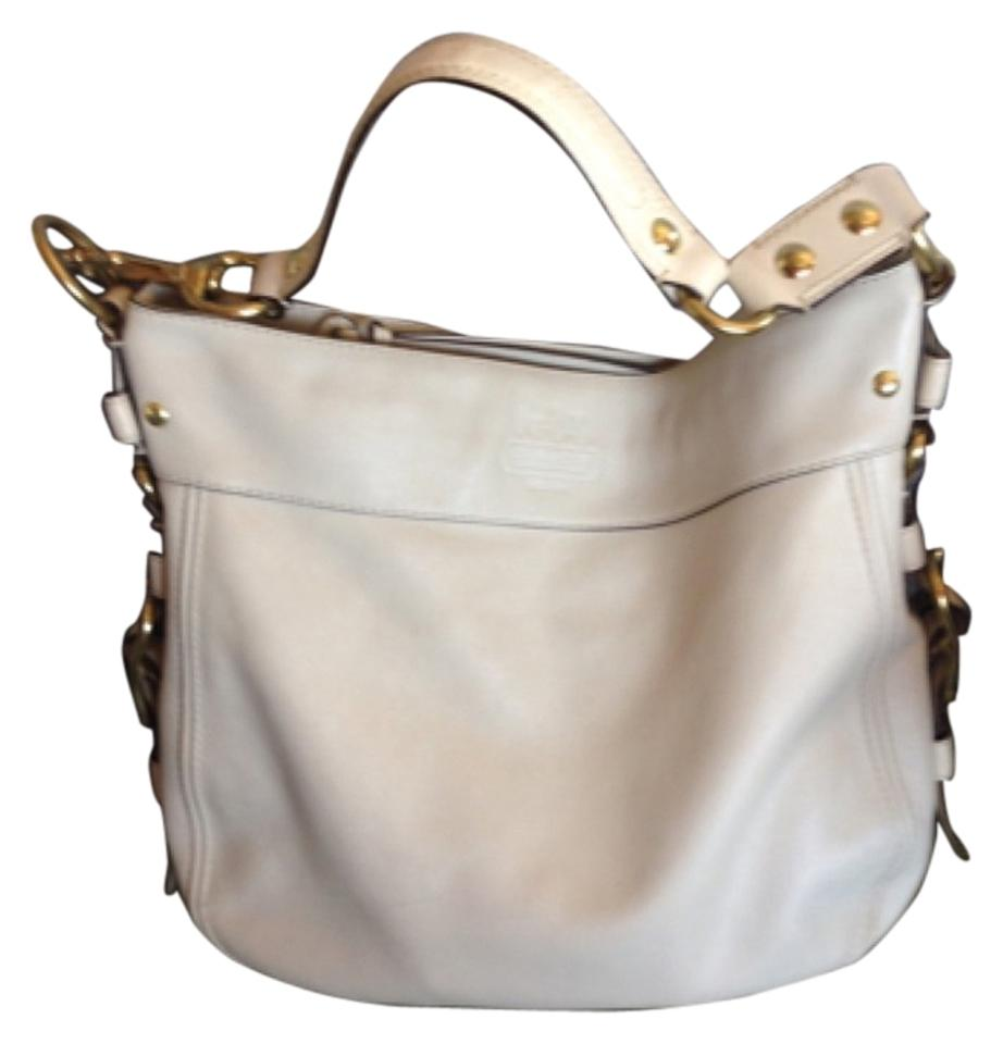 c3d50772a8ca Coach Zoe Large Parchment White Ivory Leather Shoulder Bag - Tradesy