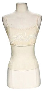 Moschino Embroidered Top Cream Ivory