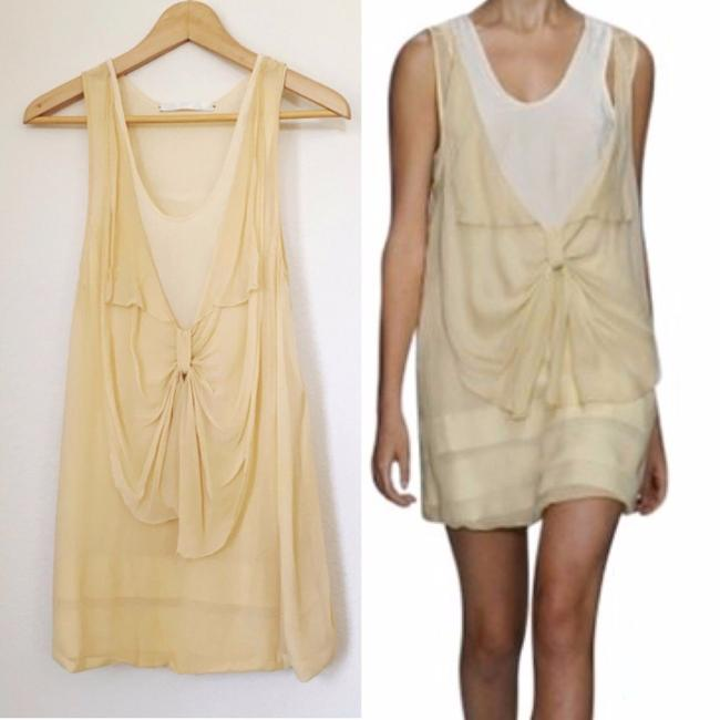 Crispin and Basilio short dress nude Silk Tank Sheer Bow Chiffon on Tradesy Image 2