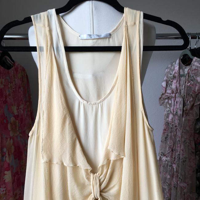 Crispin and Basilio short dress nude Silk Tank Sheer Bow Chiffon on Tradesy Image 8