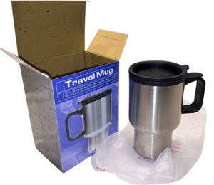 Travel Mug; Stainless Steel 16 oz.[ Roxanne Anjou Closet ]