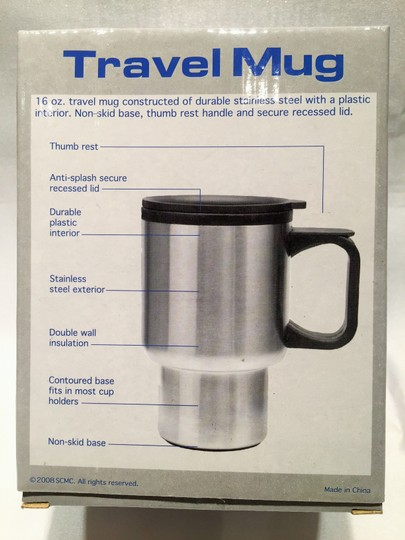 Other Travel Mug; Stainless Steel 16 oz.[ Roxanne Anjou Closet ]