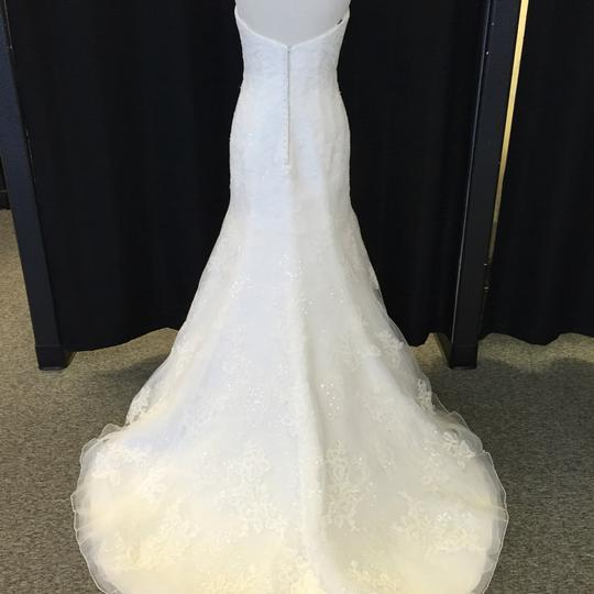 David Tutera for Mon Cheri Ivory Lace 214211 Sanya Sexy Wedding Dress Size 10 (M)