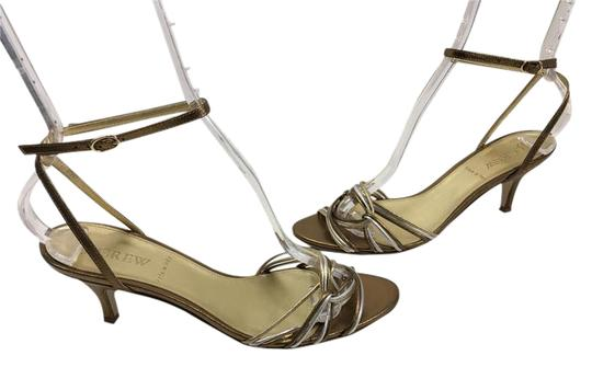 J.Crew Heels Made Italy Multi color leather strappy wrap ankle strap Sandals