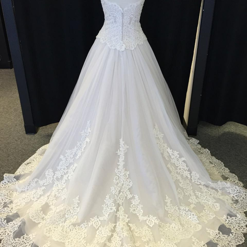 David Tutera For Mon Cheri Ivory/Stone Lace And Tulle