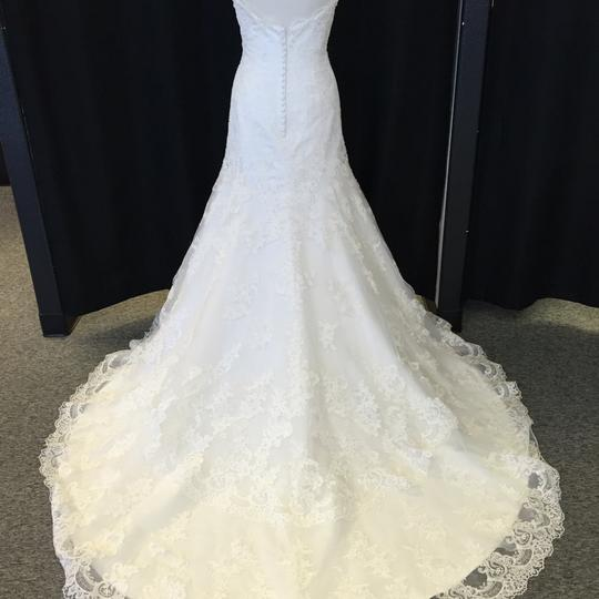 David Tutera for Mon Cheri Ivory Lace 113208 Florrie Vintage Wedding Dress Size 12 (L)