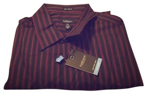 Van Heusen Button Down Shirt Black, red and brown