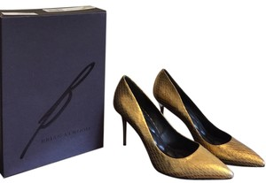 B Brian Atwood Gold Pumps