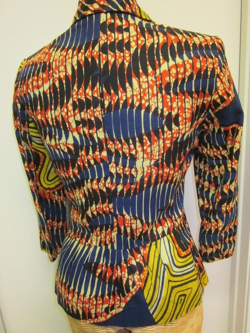 Twelfth St. by Cynthia Vincent Short Lined Pockets Dressy Casual multi-colors Blazer Image 4
