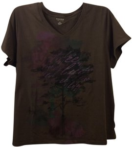 Sonoma V-neck Comfortable T-shirt T Shirt Brown 2x Lifestyle Everyday