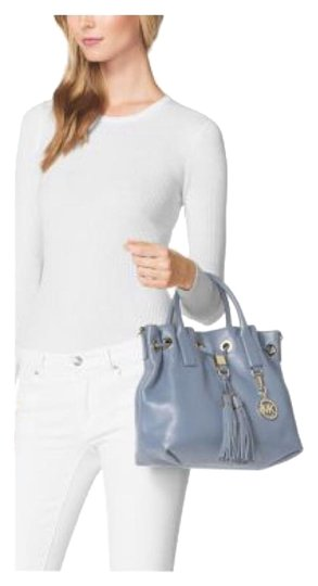 Michael Kors Next Day Shipping Satchel in Pale Blue Image 0