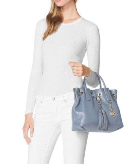 Michael Kors Next Day Shipping Satchel in Pale Blue Image 1