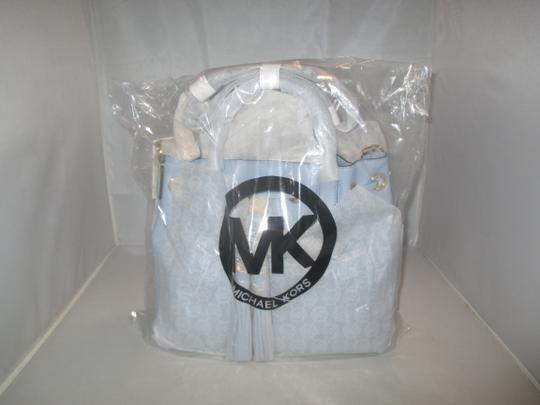 Michael Kors Next Day Shipping Satchel in Pale Blue Image 3