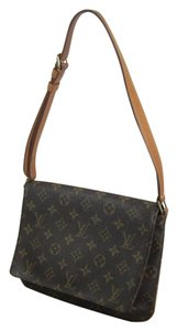Louis Vuitton Leather Musette Tango Shoulder Bag