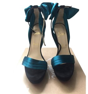 Christian Louboutin Black/Teal Platforms