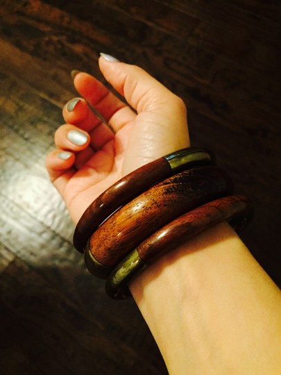 Other Wooden and Brass Bangles set of 3