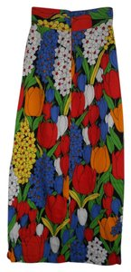 Beverly Vogue California Maxi Skirt Multi-Color