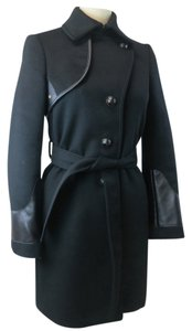 Tod's Cashmere Wool Leather Italy Trench Coat