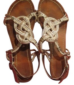 Dolce Vita Brown and Silver Sandals