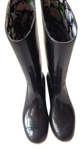 Chanel Black & white Boots
