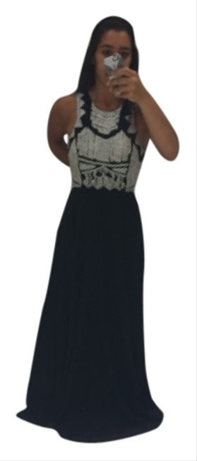 Preload https://img-static.tradesy.com/item/5846986/parker-black-with-white-beading-na-long-formal-dress-size-4-s-0-0-650-650.jpg