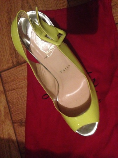 Christian Louboutin Neon yellow Platforms