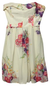 Betsey Johnson Silk Floral Pink Sweetheart Dress