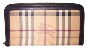 Burberry Haymarket Check Ziggy Zip Around Wallet