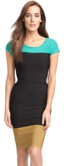 BCBGMAXAZRIA short dress Black, aqua, brown Color-blocking on Tradesy Image 1