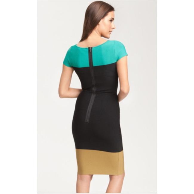 BCBGMAXAZRIA short dress Black, aqua, brown Color-blocking on Tradesy