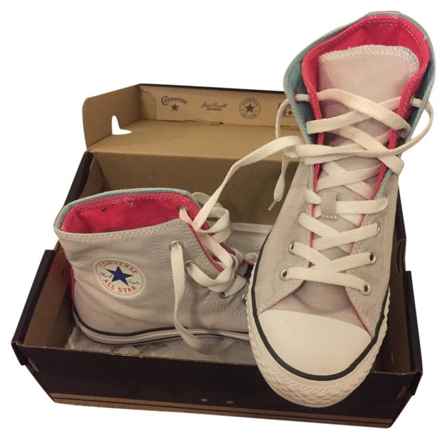 Item - Gray/ Pink / Sky Blue Sneakers Size US 5 Regular (M, B)