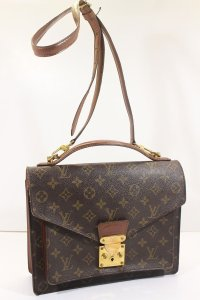 78d8f6b15546 Louis Vuitton Unisex Men Women Computer Briefcase Clutch Classic Cross Body  Bag. Louis Vuitton Monceau Briefcase Computer Brown Monogram Canvas ...