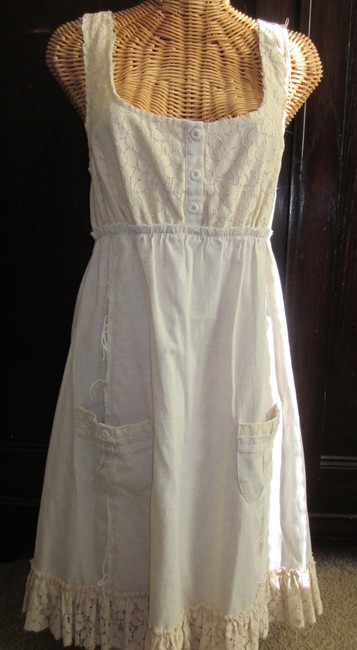 Ya Los Angeles short dress Ivory Summer Pockets on Tradesy