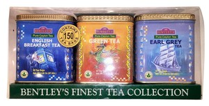 Other Bentley's Finest Ceylon Tea Collection; 150 Tea Sachets; English Breakfast Tea, Green Tea and Earl Grey Tea [ Roxanne Anjou Closet ]