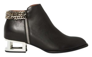 Jeffrey Campbell Silver Hardware Black Boots
